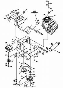Bunton  Bobcat  Ryan 934007 16hp Kawasaki 48 Classic Pro Parts Diagram For Engine Deck Assembly