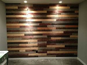Wood slat walls with hidden lights speaks