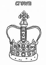 Crown Coloring King Drawing Pages Crowns Template Pointed Princess Printable Popular Sketch Getdrawings Getcolorings Coloringhome sketch template