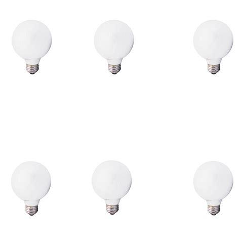 Bathroom Globe Light Bulbs by 6pk Sylvania Soft White Globe Light Bulbs Bathroom