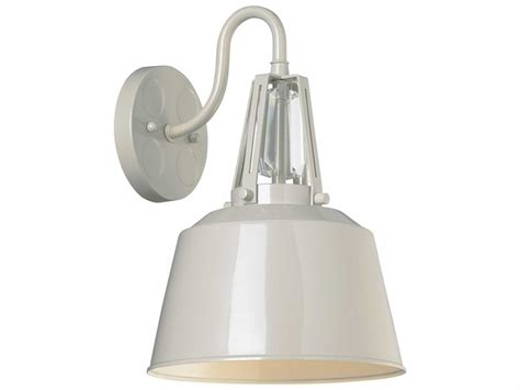 feiss freemont hi gloss grey industrial wall sconce