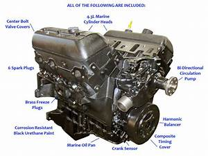 Mercruiser 4 3l Vortec Base Marine Engine  1996