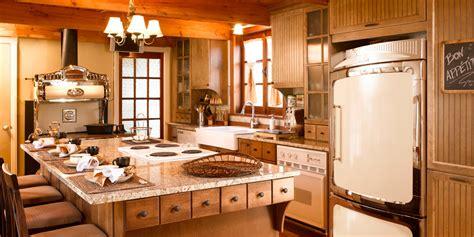 cuisine au au travers des époques cuisine bois merisier granit