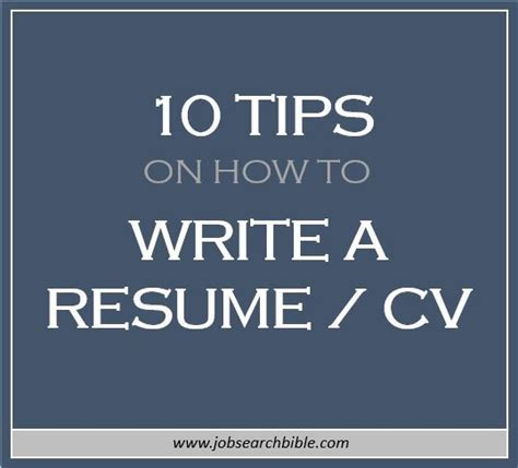 10 Tips To Writing A Resume by Resume Cv Archives Search Bible
