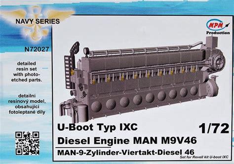 U Boat Diesel Engine by 1 72 U Boot Typ Ixc Diesel Engine M9v46 Rev 1 72