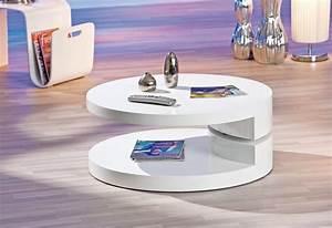 Table Basse Ronde Blanc Laqué : deco in paris table basse laque blanc ronde extensible ruben ruben laq blanch ~ Teatrodelosmanantiales.com Idées de Décoration