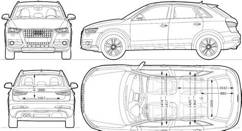 Blueprints> Cars > Audi > Audi Q3 (2011
