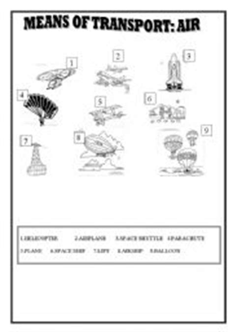 means of transport air esl worksheet by win25