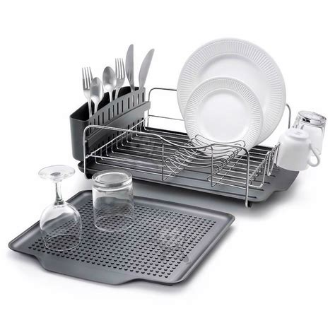 stainless steel dish rack 3pc kitchen aid black stainless steel dish drying rack