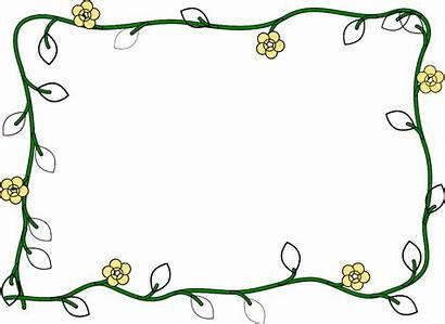 Border Clip Word Frame Flower Templates Borders