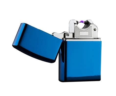 Blue Metallic Colored Electric Arc Lighter