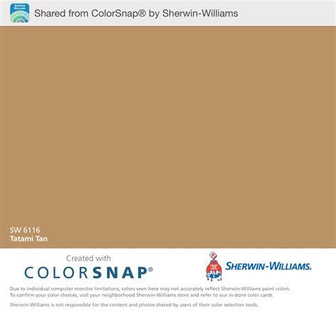 tatami tan sherwin williams color snap app shows this