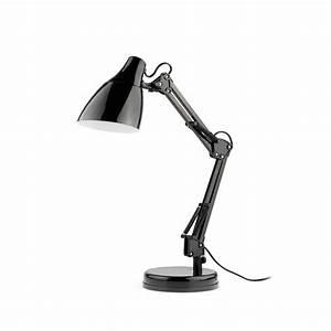 Lampe De Bureau Noire : gru lampe de bureau articul e noire 1xe27 faro 51917 8421776062870 ~ Teatrodelosmanantiales.com Idées de Décoration
