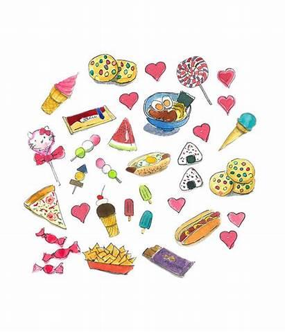 Snacks Clipart Watercolor Snack Printable Cliparts Clip