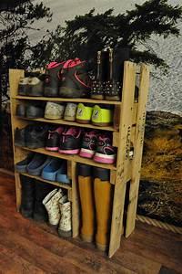Diy, Shoe, Shelf, From, Pallets, U2022, 1001, Pallets