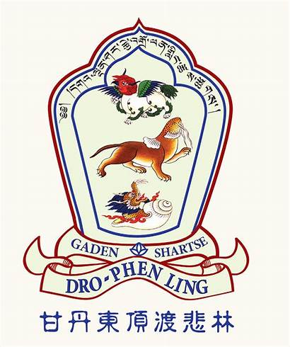 Tibetan Ling Buddhist Logos Dro Phen Gaden