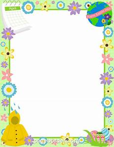 Printable April border. Use the border in Microsoft Word ...