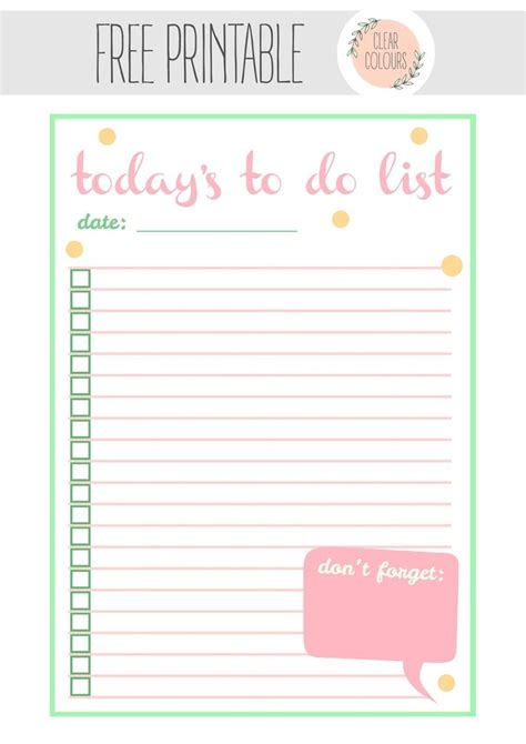 Diy To Do List Template by 1000 Images About Printable To Do List On