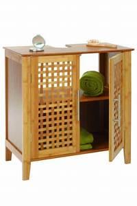 Meuble Sous Vasque Bambou : meuble vasque salle de bain les bons plans de micromonde ~ Dode.kayakingforconservation.com Idées de Décoration