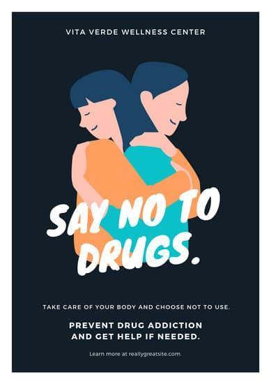 customize  drug awareness poster templates  canva