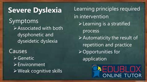 severe dyslexia   intervention edublox