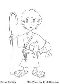 David Shepherd Boy Coloring Page