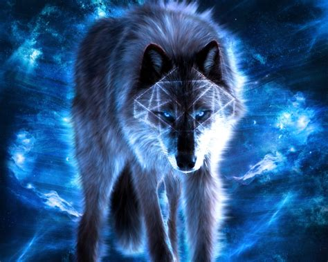 Blue Cool Wolf Wallpaper by Black And Blue Wolf Wallpaper