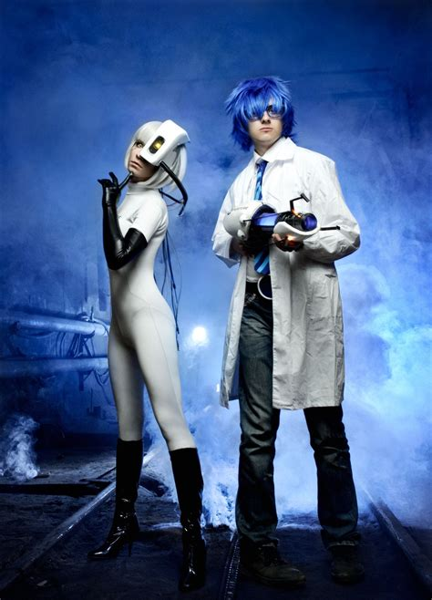 Wheatley And Glados Cosplay Portal 2 By Tenori Tiger