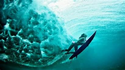 Underwater Surfing Waves Water Sea Sports Desktop