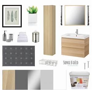planche shopping renovation salle de bain bois gris blanc With armoire de salle de bain bois