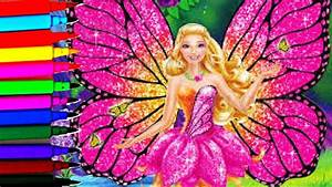 Barbie Mariposa Sparkle Fairy Coloring Book Pages Kids Fun Art Disney Brilliant Color Show YouTube