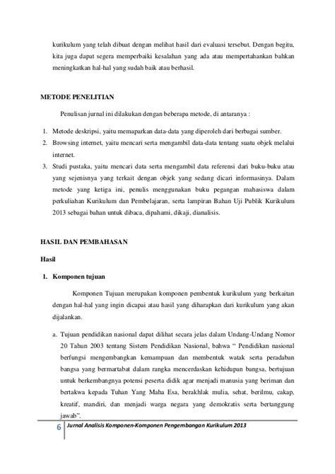 Jurnal analisis-komponen-pengembangan-kurikulum-2013