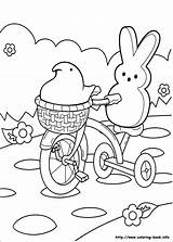 Marshmallow Coloring Pages Peeps Printable Print Getcolorings Colorings sketch template