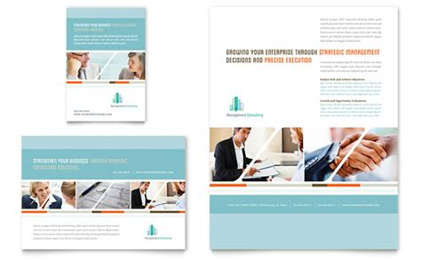 management consulting flyer ad template design