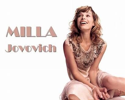 Jovovich Milla Wallpapers Topless Mila Beauty Bikini