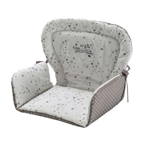 coussin de chaise bebe coussin de chaise haute pour b 233 b 233 en coton blanche grise 25 x 30 cm songe maisons du monde