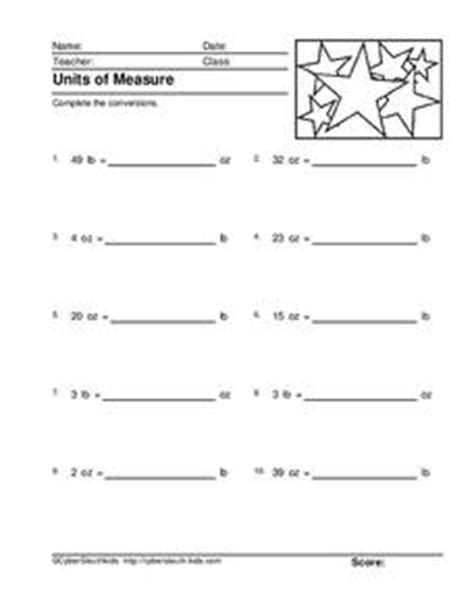 pounds and ounces worksheet for 4th grade lesson planet
