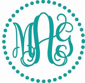 free monogram fonts for vinyl wowcom image results With free monogram template