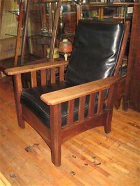 arts crafts oak push button morris original royal chair co