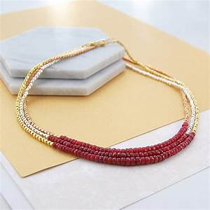 ruby birthstone gold and silver necklace by embers ...