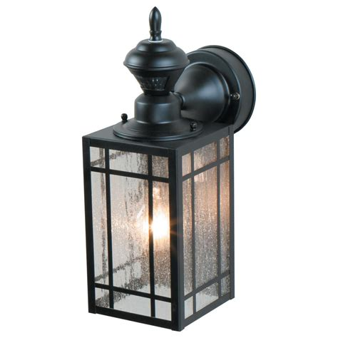 heath zenith outdoor wall light heath zenith 1 light black motion activated outdoor wall