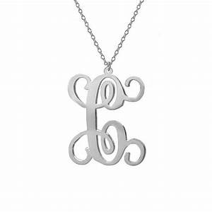 one letter necklacesingle initial necklacepersonalized With one letter monogram necklace