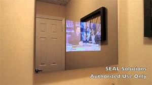 How to put a tv behind a mirror home safe for Putting a tv in the bathroom