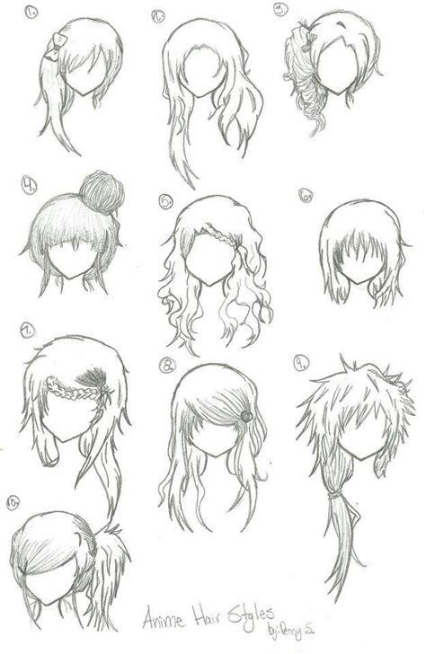 anime hair styles hairstyles anime drawing bun curly