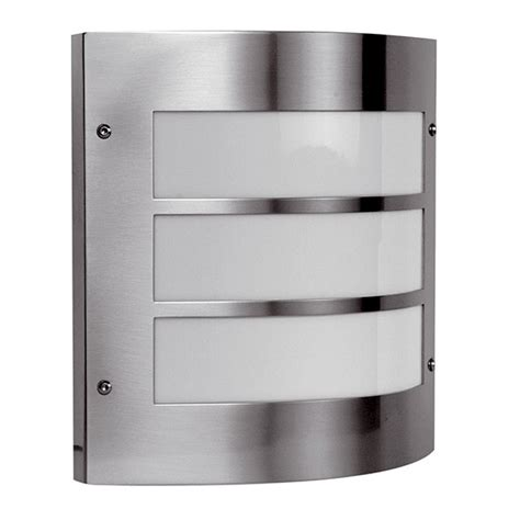 ansell acqua inox stainless steel wall light at uk
