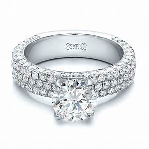 custom pave diamond engagement ring 100770 With diamond pave wedding ring