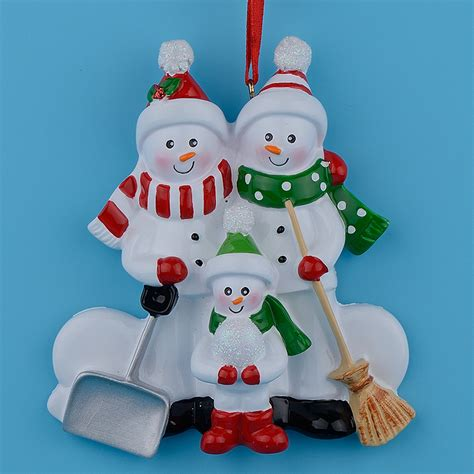 aliexpress com buy resin snowman family shovel of 3 polyresin christmas tree ornaments