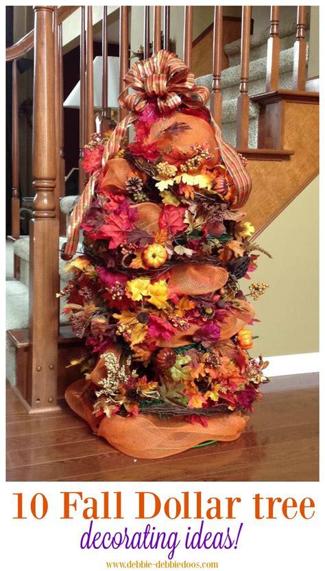Festive fall decorating tree ideas - Debbiedoos