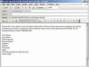 cover letter format when applying online With email application