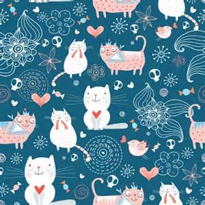 cat patterns cat pattern vector 01 vector animal vector
